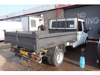FORD TRANSIT 100 T-350 DOUBLE CAB TIPPER – 57-REG