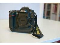 Nikon D4, pro-spec DSLR camera. Cared for one owner UK model.