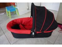 Icandy Cherry Carrycot in red/black (liqourice) in very good condition.