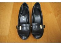 Scholl Black Court Shoes UK6/EU39 High Heels, Only Worn a Few Times, Very Comfortable