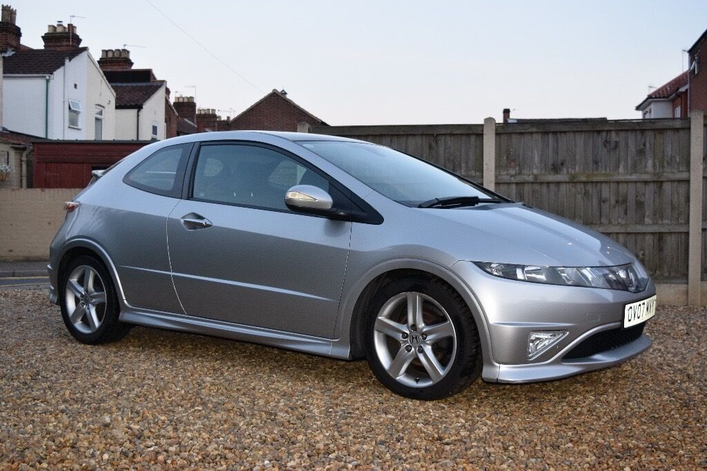 2007 HONDA CIVIC Type-S GT 1.8l Petrol silver. 11 months MOT, new ...