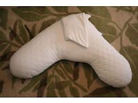 John Lewis V Pillow with cover, immaculate condition