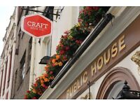 Bubbly, fun, beer loving PART TIME BAR STAFF needed at fantastic pub in Central London