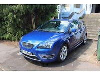Ford Focus ST in blue. Lovely example. Alloy wheels and sports seats