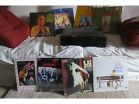 Laser Discs of Movies, Concerts and Cartoons--Plus Laser Disc Player