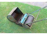 Lawn Mower Classic Rollmo Presto push combined cut & roll lawnmower & grass box.