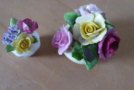 Collectible: Two pieces of Vintage ADDERLEY FLORAL MADE IN ENGLAND Bone China £20 for the two pieces