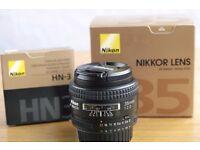 Nikon Nikkor 35mm f2 AF-D lens; boxed Exc