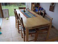Ikea Extendable Pine Effect Dining Table 200cm x 84 cm x 72 cm high