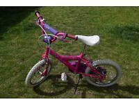 "Pink Girls Bike 16"" Wheels"