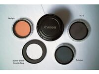 Canon 50mm 1.8II with Filters
