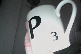 Letter 'P' mug