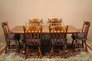 X6 AUS MADE SOLID TIMBER CHAIRS COUNTRY STYLE + FREE DINING TABLE Hornsby Hornsby Area Preview