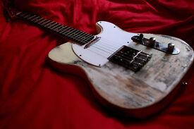 TELECASTER Relic Electric Guitar cream roadworn plays perfect not squier guitar