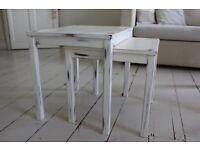 DIY Shabby chic Set of 2 small tables + Bookshelf