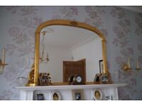 Mirror for mantle Place - Gold gilited