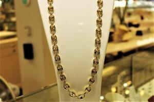 Gucci style chain in 10kt yellow 28 inches 12.25mm