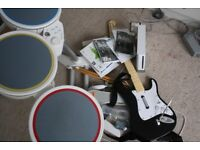 Nintendo Wii console + beatles rockband + sports games bundle