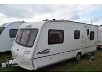 5 berth 2005 Bailey Pageant with full awning. Excellent condition. Blow air heating. Separate shower