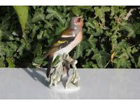 Vintage Ceramic Rosenthal 1651 Bird Figurine Finch / Fink 2 F Heidenreich 15.5cm German Gift