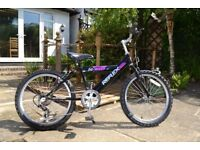 BLACK BLITZ REFLEX 14 inch FRAME 20inch WHEEL 5 SPEED SHIMANO GEAR GRIP SHIFT BICYCLE WITH STAND