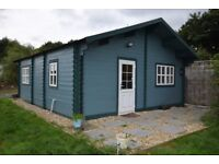 Log Cabin Home – 6m x 7m – 1 bedroom fully insulated 'all year round' liveable log cabin