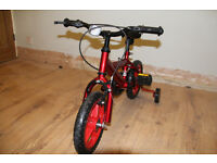 Childs Bike - With Stabilisers -
