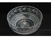 Large Vintage Waterford Crystal Bowl Irish Hand Cut Gothic Mark Fruit Bowl Salad Bowl Ireland
