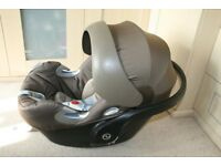 Cybex Platinum Aton Q Car Seat In Olive / Khaki And Beige CAN POST