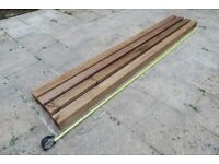 100 mm x 100 mm x 3.0 m redwood UC4 pressure treated brown post (4 available, price is each)