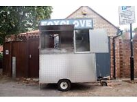 Mobile Catering Trailer FOR SALE. USA Street Food Style. Equipment Included. £5000 ONO