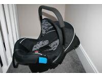 Silver Cross Ventura Plus infant baby car seat group 0+ Black Monodot **can post**