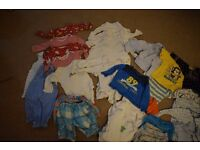 9-12 months boys clothes bundle (34 items)