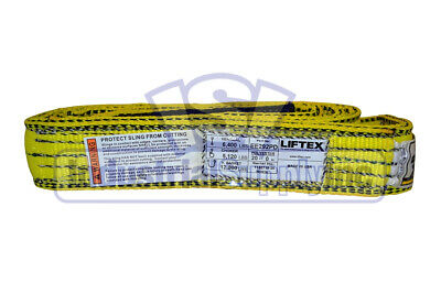 Lifting Web Sling 2 X 20 Ft Two Ply Flat Eye Type 3 Polyester