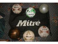 Mitre footballs size 5 & large ball carry bag