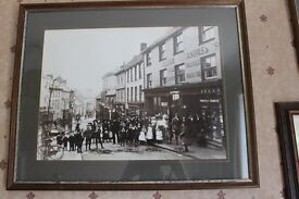 Framed vintage photo of Falmouth in Cornwall