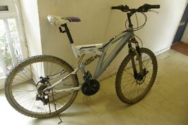 Mongoose Silver White Adults Mountain Bicycle