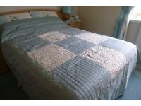 PRICE REDUCED FOR - padded bedspread for 4ft 6 bed or 5 ft