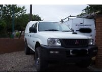 MITSUBISHI L200 4WORK TRUCK DOUBLE CAB WITH TRUCKMAN BACK FULL SERVICE HISTORY