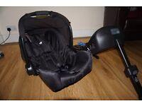 Joie car seat + BASE (Dual ISO FIX + Belt)