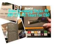 Roku Streaming Stick+ 4k **Brand New Sealed**