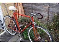 Vintage Raleigh Single Speed / Fixed Gear Road Bike, Joytech hubs, 58cm