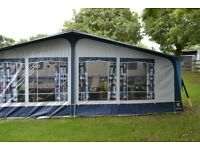 Caravan Hobby Prestige 650 UMFe with 3m awning sited at LL55 3PD Snowdon