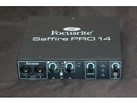 Focusrite Saffire Pro 14 Firewire Audio Interface w Firewire and Power Cable [MINT]