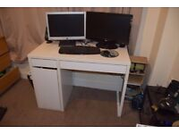 Computer Desk with draws and cupboard - very good condition