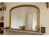 Traditional style, gilt effect over-mantle mirror