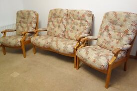 Three Piece Suite - Two Chairs and One Two-Seater Sofa FREE
