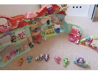 Littlest pet shop house & figurines bundle