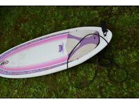 NSP 6ft 8ins surfboard