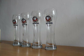 Erdinger Weissbier German Pint Beer Glasses